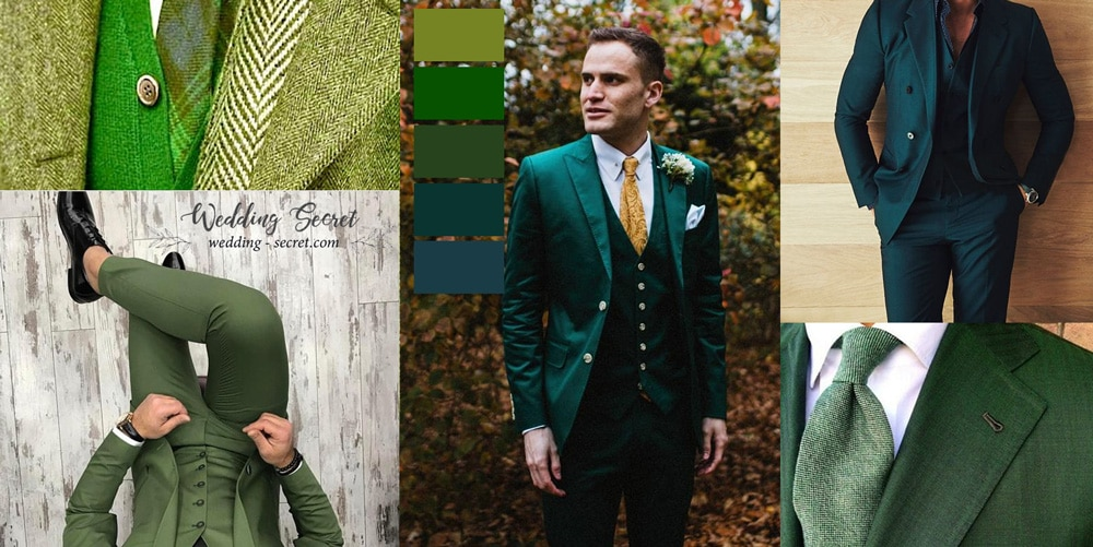 Le célèbre Costume vert mariage - comment le porter? | Wedding Secret @WO_03