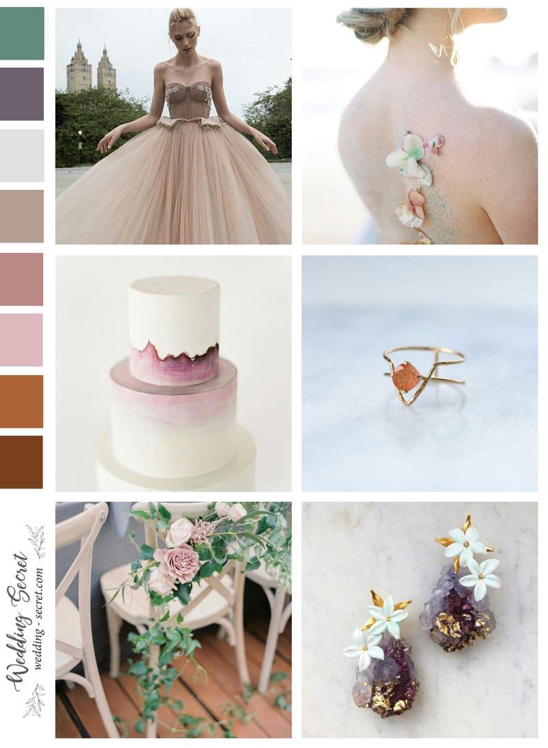 page ambiance mariage pastel