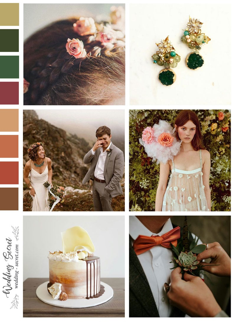 page d'ambiance mariage d'automne
