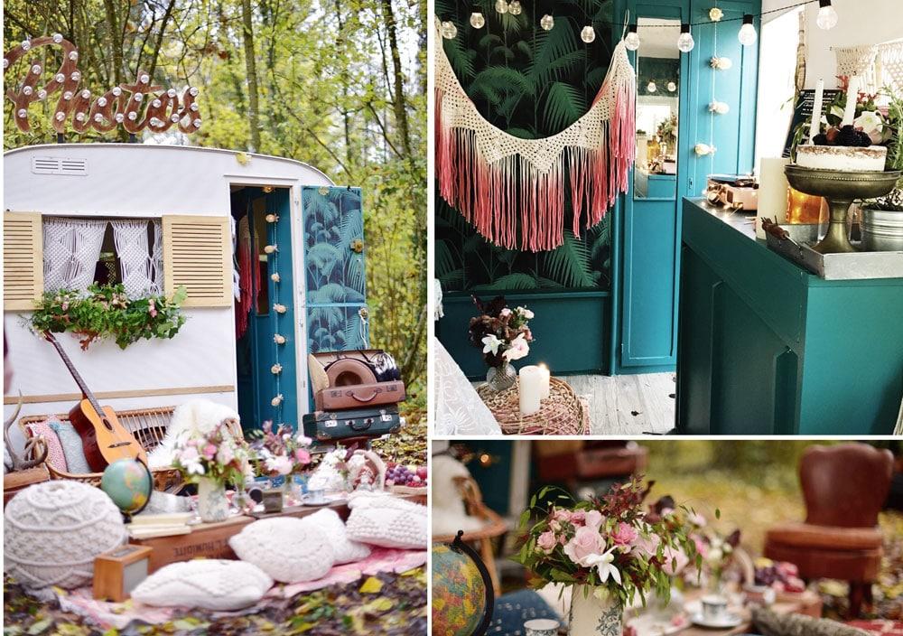Caravane Vintage Pour Maries Dans Le Vent By Carl Ellie