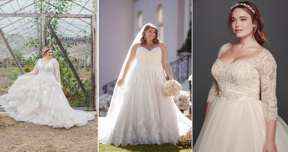 robe de mariee pour femmes rondes
