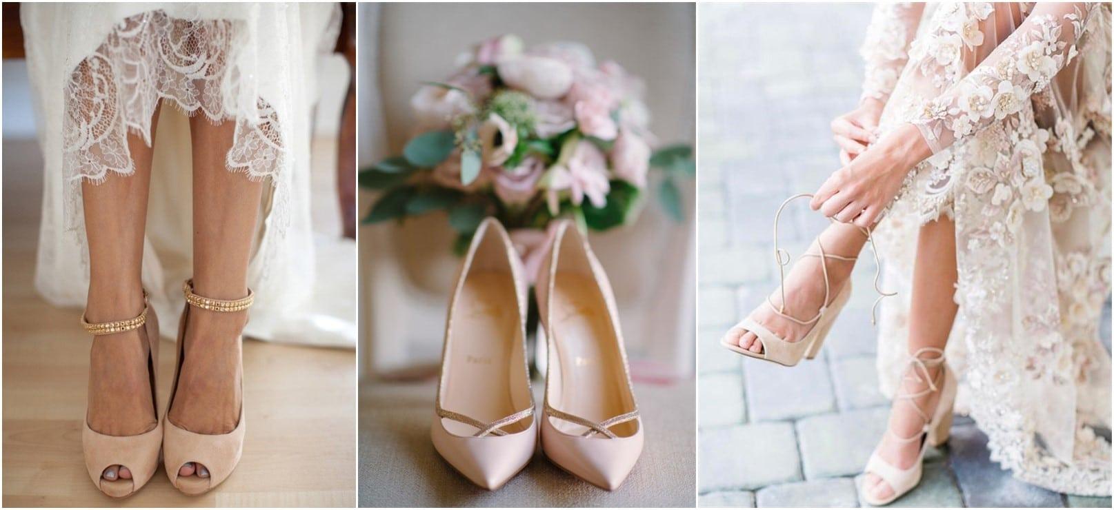 chaussures de mariée nude