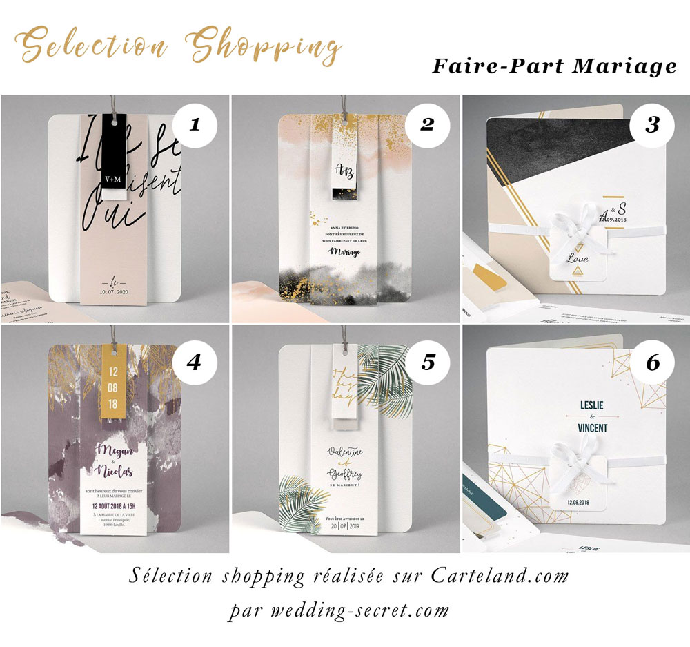 selection shopping faire-part mariage