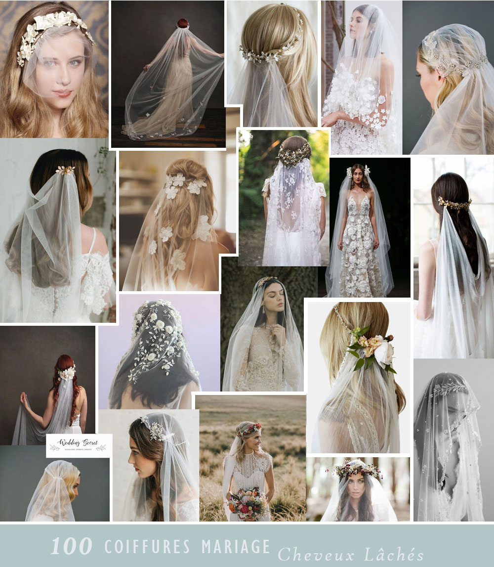 Coiffure De Mariee Cheveux Laches En 100 Photos Wedding Secret