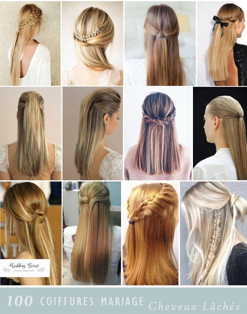 Idees coiffures pour cheveux longs et lisses