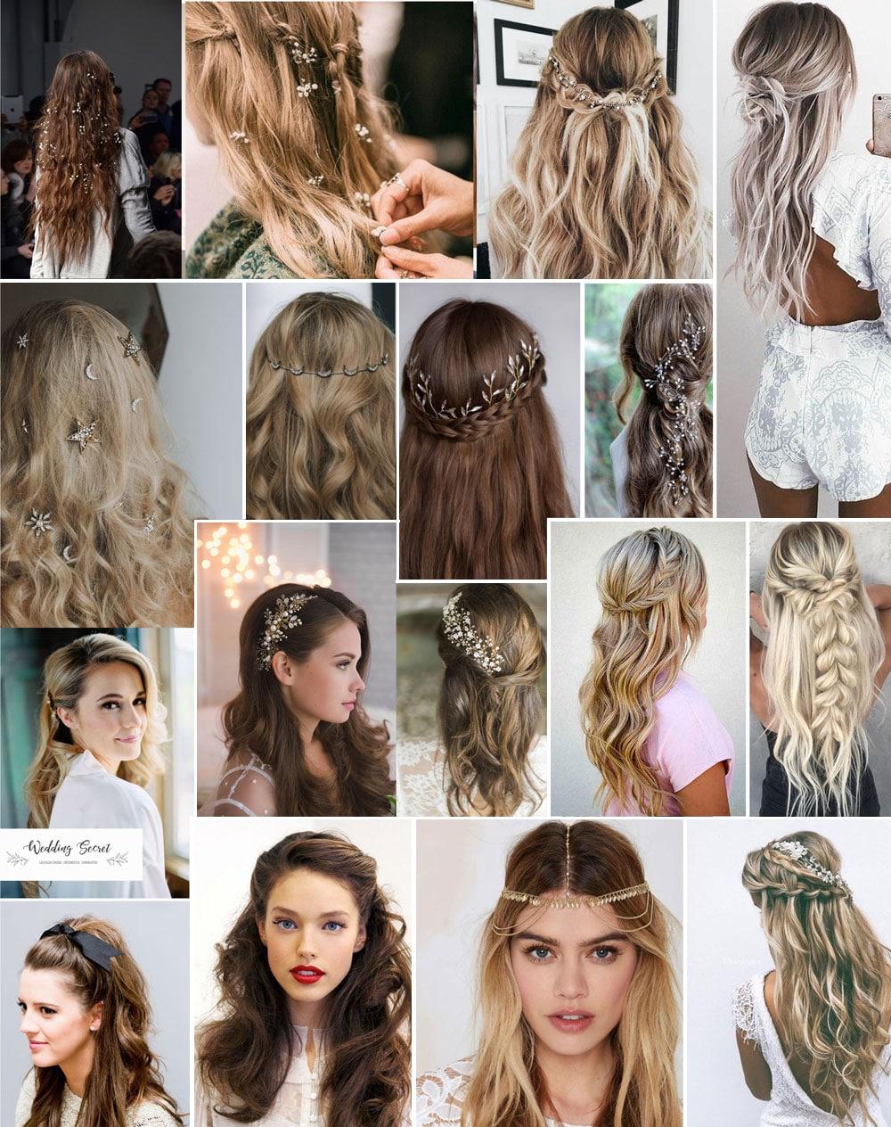 coiffure de mariee cheveux detaches ondules ou bouclés