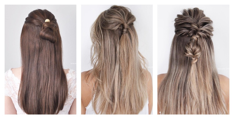 idee coiffure mariage cheveux detaches lisses