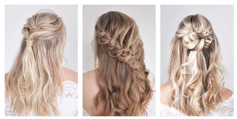 idee coiffure mariage cheveux detaches boucles