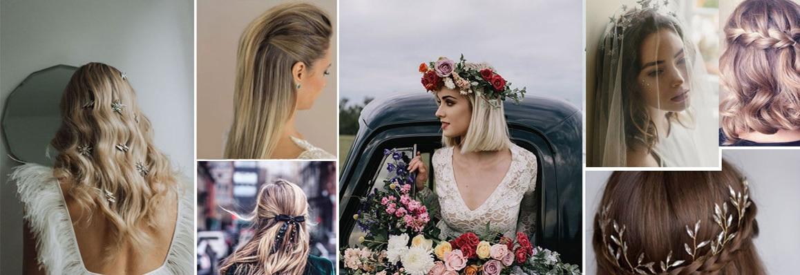 Coiffure mariage cheveux longs retro