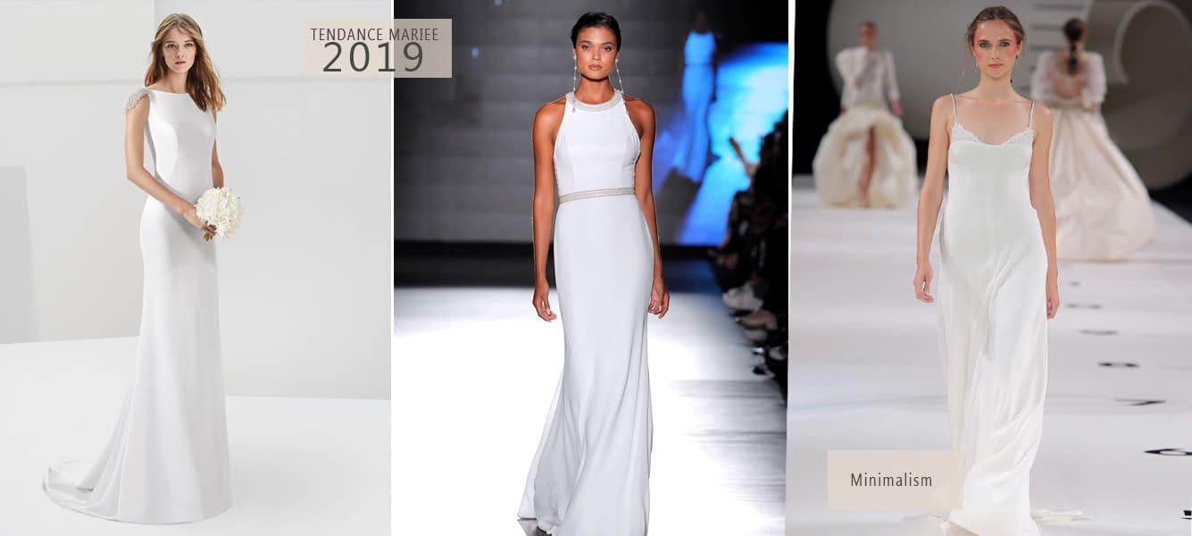 robe de mariée droite et simple 2019