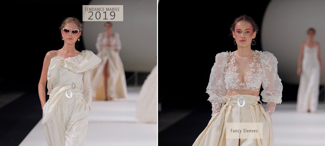 robe de mariée manches bouffantes 2019