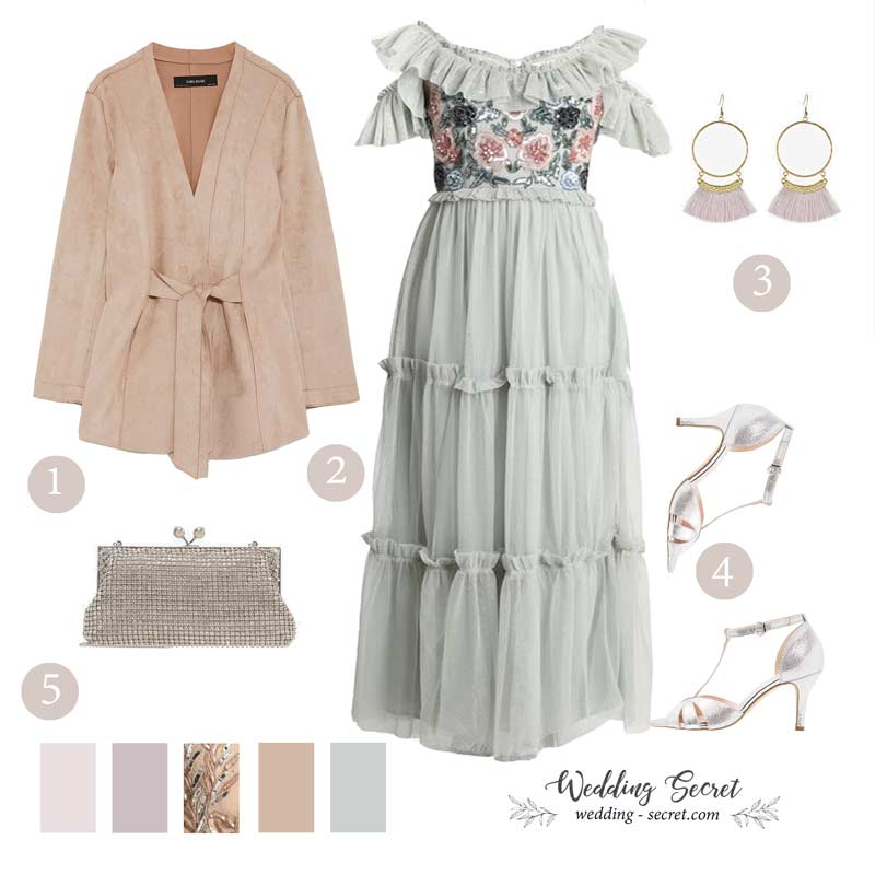 robe longue piur invitée de mariage bohème