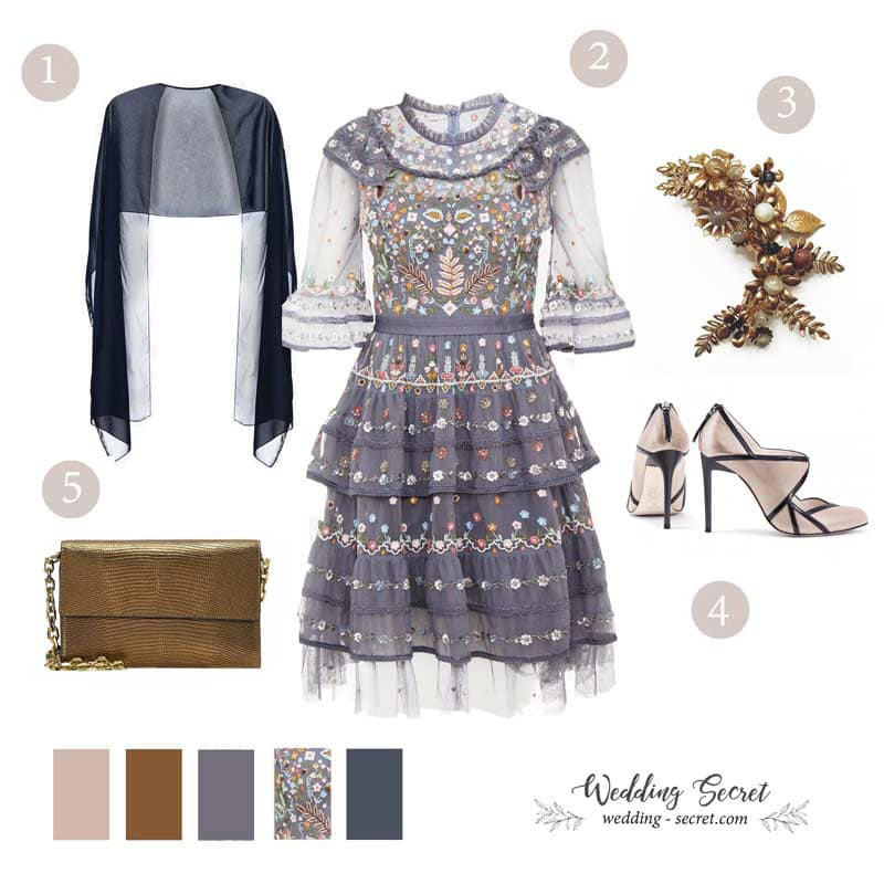 tenue avec robe invitée de mariage bohème