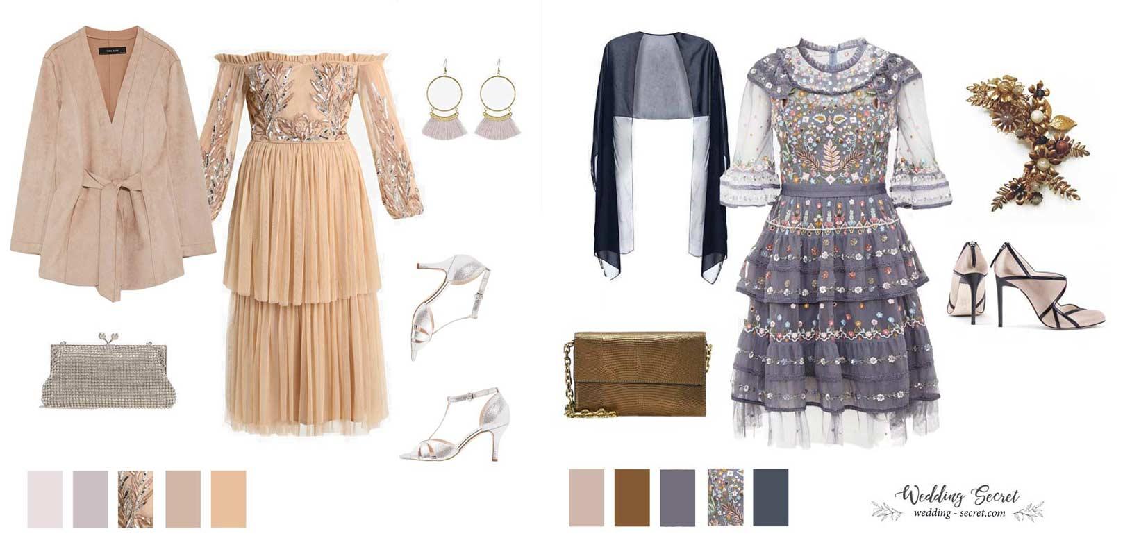 tenue et robe invitéee de mariage boheme