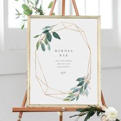 affiche mariage hexagone