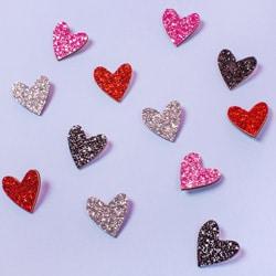 pins coeur paillette