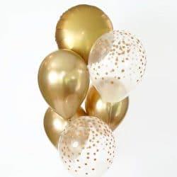 i ballon-mariage-or-et-confettis-or