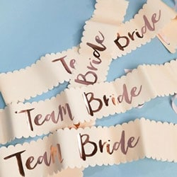 banderole style miss team bride