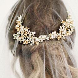 b bijoux cheveux or