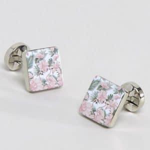 boutons manchettes fleurs mariage champetre