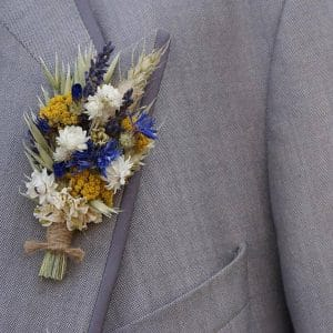 boutonniere mariage homme fleurs sechees homme