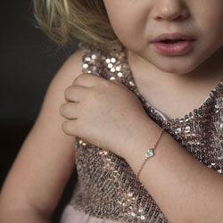 petit bracelet enfant coeur or