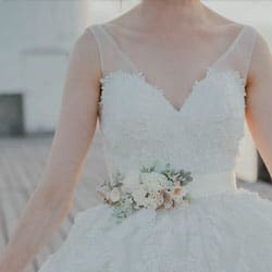 ceinture fleurie mariage