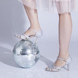 chaussures de mariee argent