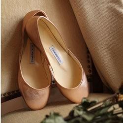 chaussures de mariee ballerine rose gold