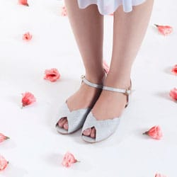 chaussures mariage argent