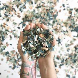 h confettis papier de soie theme mariage boheme