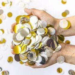 g confettis ronds papier de soie