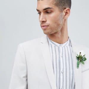 costume beige pour mariaga
