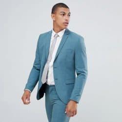 turquoise costume de mariage
