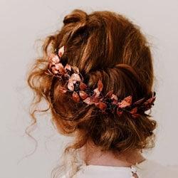 b couronne cheveux rousse
