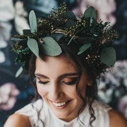 couronne de feuilles mariage