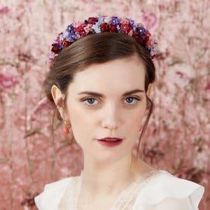 couronne fleurs sechees multicolore