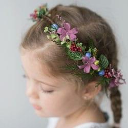 couronne de fleurs petite fille