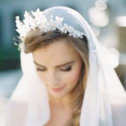 k couronne de mariage avec voile