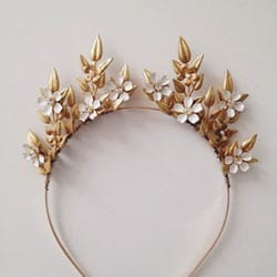 couronne fleurs enameld