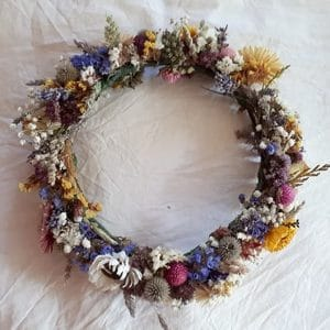 couronne fleurs sechees mariage champetre