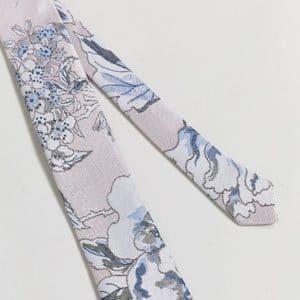 cravate a fleurs pastel mariage champetre
