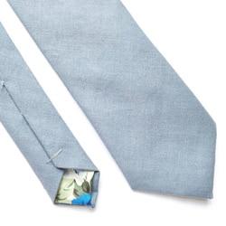 cravate mariage bleu doublure fleurs
