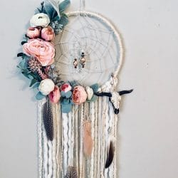 grand dreamcatcher fleurs attrape reve