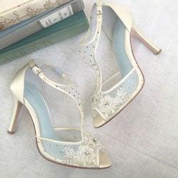 escarpins mariage perles
