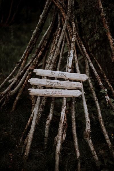 panneaux de bois mariage