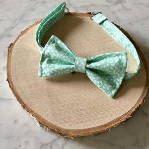 noeud papillon vert deau mariage champetre
