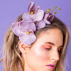 orchidée fleurs cheveux