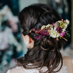 c peigne cheveux fleuri
