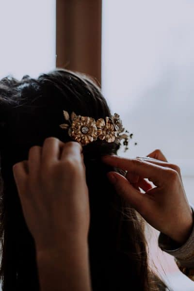 accessoire cheveux mariage mignonne handmade